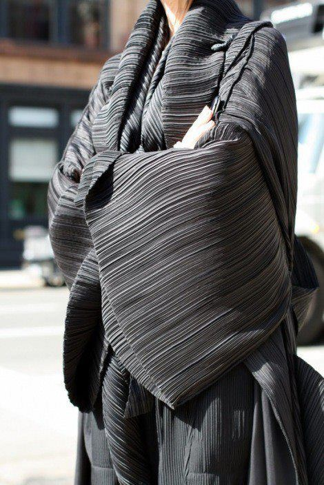 Issey Miyake. This is not a pattern, but the designer does publish patterns for Vogue Pattern Co.