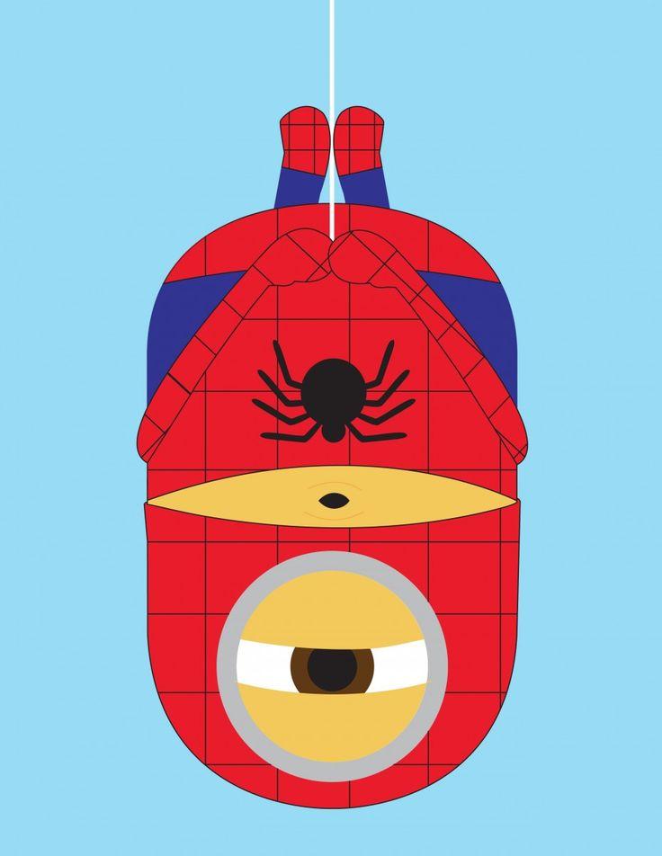 Minions como superhéroes: Spiderman.