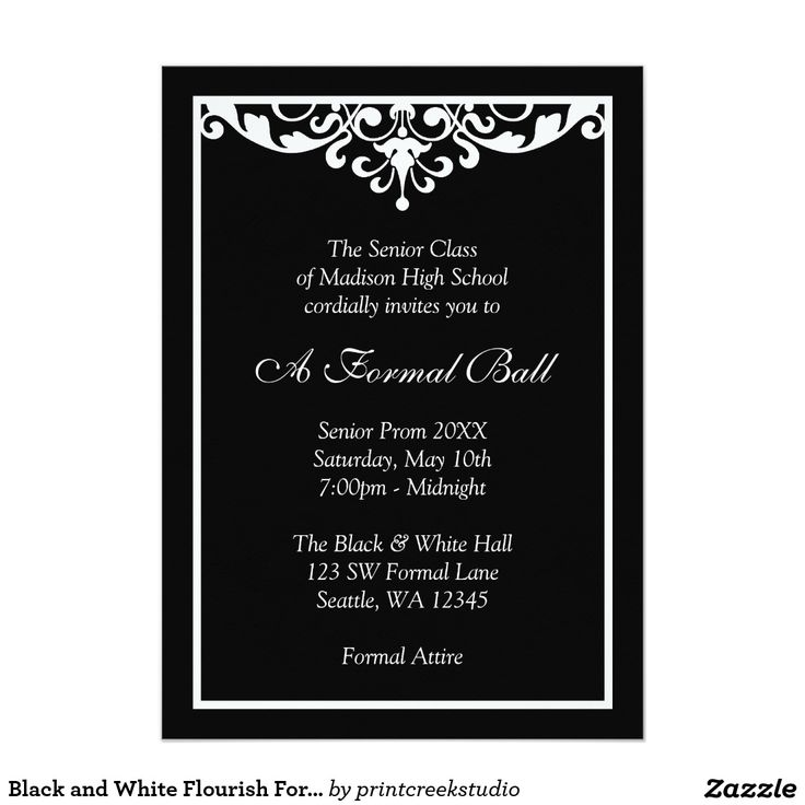 21 best Prom Invitations images on Pinterest Texts, Cards and - Formal Business Invitation