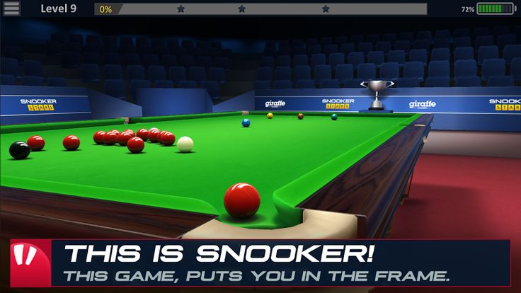 Snooker Stars v1.96 (Mod)   Snooker Stars v1.96 (Mod)Requirements:Android 2.3.2Overview:Try out the most realistic Snooker game on Mobile! It's simple enough so anybody can play but intricate enough that it will take you years to master! - REAL FEELING OF PLAYING SNOOKER  We have created a simple and accurate touch control system that gets out of your way and makes you feel like you are almost standing in the game. Playing a snooker game on a mobile device should feel natural and recreate a…
