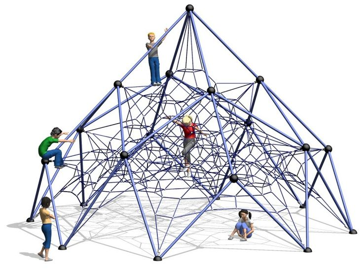 Popular 5.5m high Net Climber with a huge amount of climbing space!  Special ground support means no concrete is required!  #MtHutt #PlaygroundCentre #NetTowers #PlaySpace #PlayGround #Fun #Play #ClimbingNets #Towers #Nets