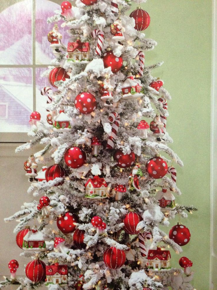Red and white Christmas tree 2826 best