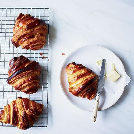 how to make butter croissants with puff pastry