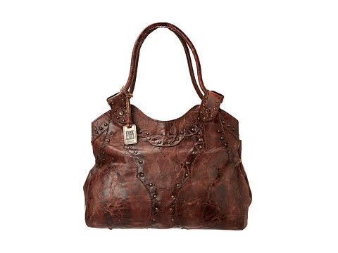 Frye Vintage Stud Shoulder Bag Burnt Red 18