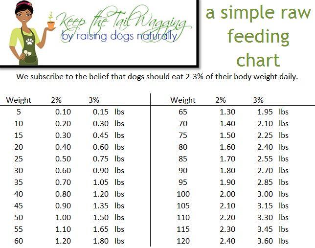 Simple Raw Feeding Chart For Dogs Raw Feeding For Dogs Raw Dog
