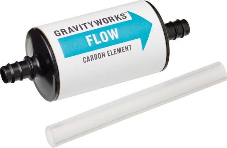 Platypus Gravity Works Carbon Element. Carbon Element: maximize the Platypus taste-free experience with the new GravityWorks Carbon Element. It easily splices in after the GravityWorks hollow fiber element with an included hose segment, helping to remove flavors, odors, and many organic compounds from filtered water for the best taste possible. Filter Cartridge: effective down to 0.2 microns and meets EPA Guide Standards for the removal of bacteria and protozoa. Approximate filter life of...