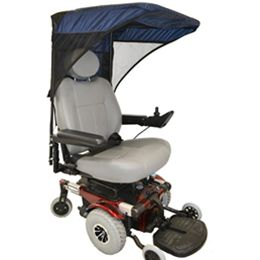 WeatherBee Power Chair Cover Covers & Canopies :: The WeatherBee™ covers your power wheelchair from moisture and d