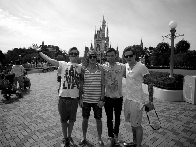 mcfly.. if i saw them at dinsey i would have peed my pants