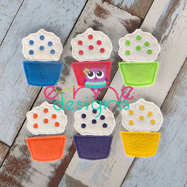 Cupcake Color Matching Game Embroidery Design Embroidery