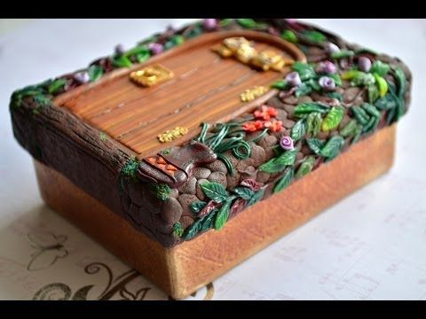 Covered box polymer clay tutorial by FimoTV