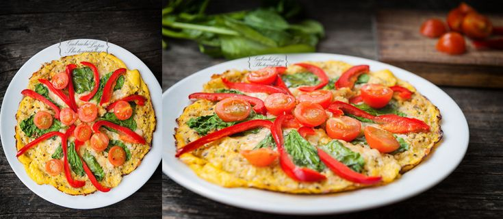 Vegetarian cauliflower pizza crust photography
