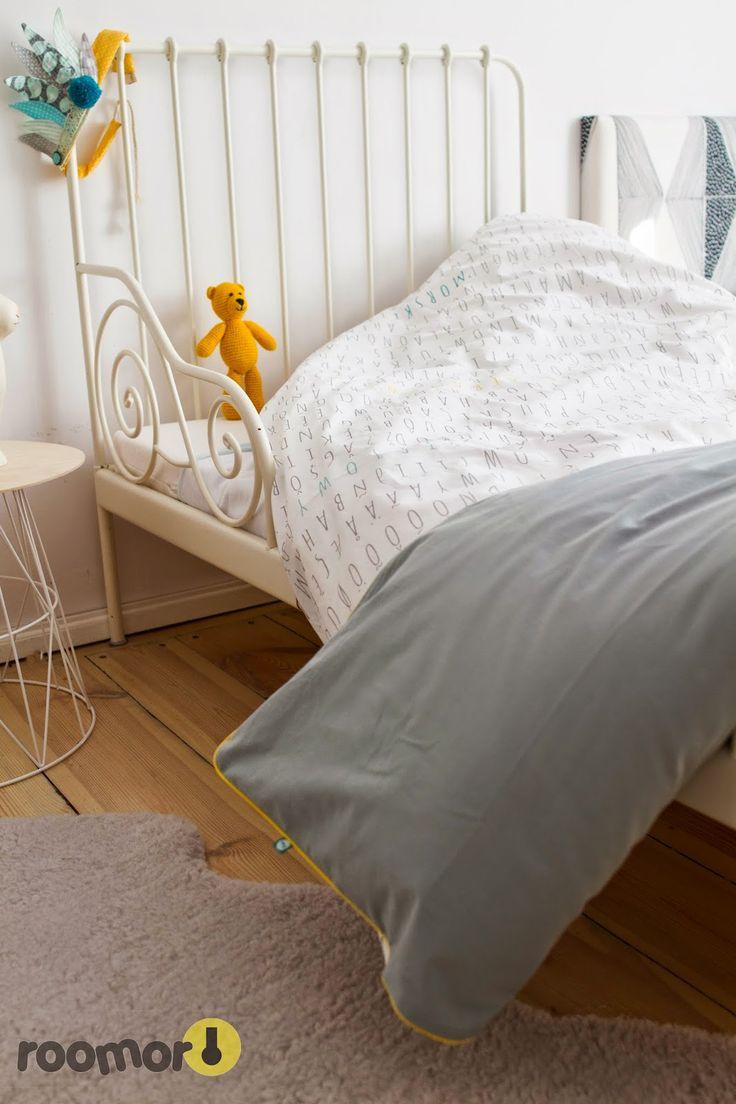roomor! - #mumla, bedding, textile for kids, made in poland, kids room, vintage, girl room, grey,