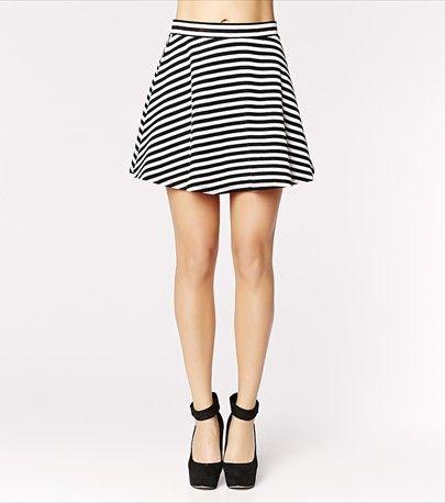 Striped Flared Skirt - $24.90