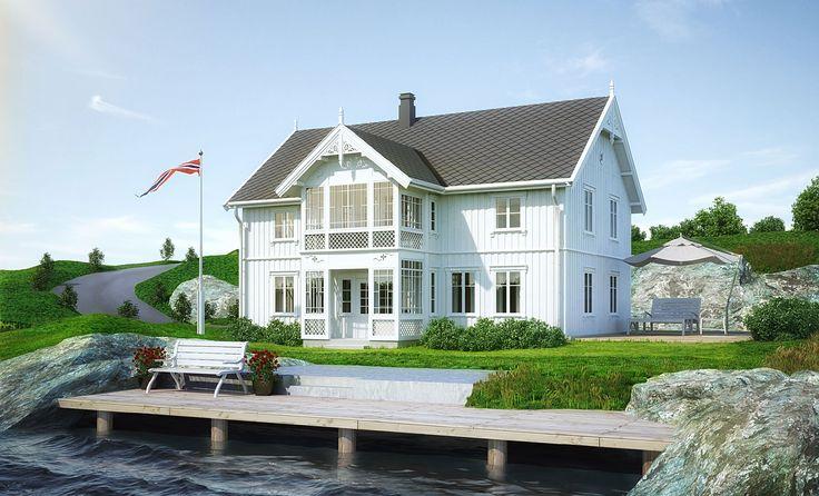 Svalen er et kataloghus i sveitserstil | Norgeshus