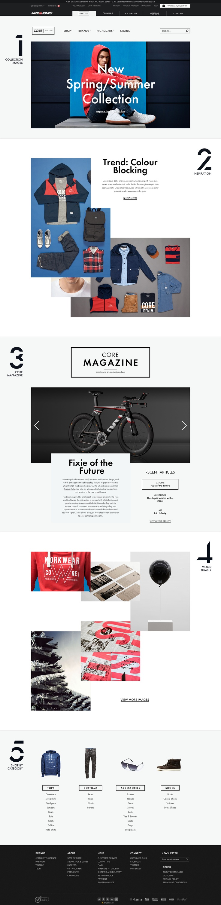 CORE by Jack & Jones — #web #design #clean #white #ux #ui