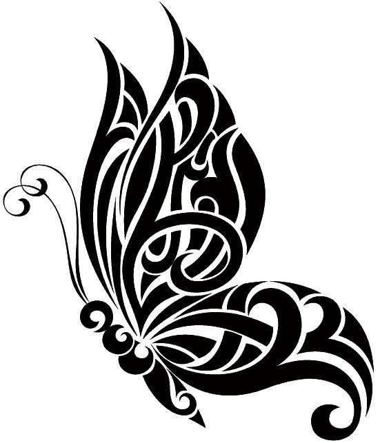 I like this butterfly tattoo*vector*