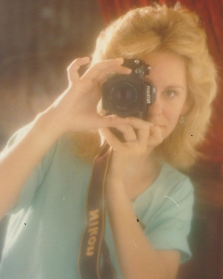 The latest from Instagram - see more at @GreatPhotoTutorials: Once upon a time there was a young girl who knew she was always going to become a photographer.  That's me! Teenager with my first beloved Nikon camera photographing myself in the mirror - the old-fashioned selfie . Circa around 1985