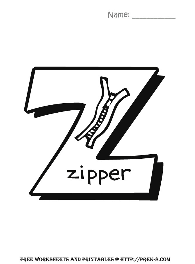 Free Letter Z Coloring Pages Cursive Capital U Practice Worksheet Handwriting