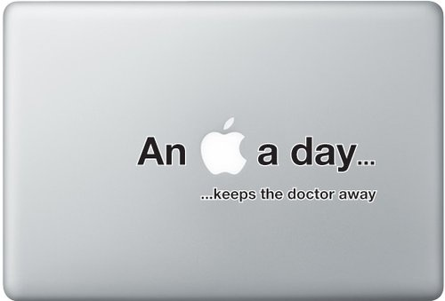 Shoply.com -An apple a day macbook decal sticker. Only $8.90