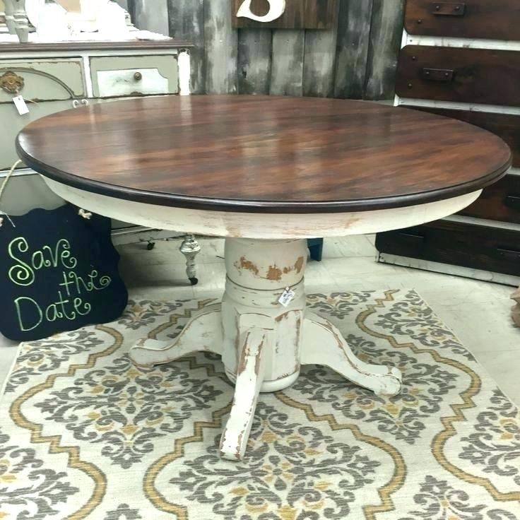 Painted Pedestal Table And Chairs Google Search Painted Kitchen Tables Kitchen Table Redo