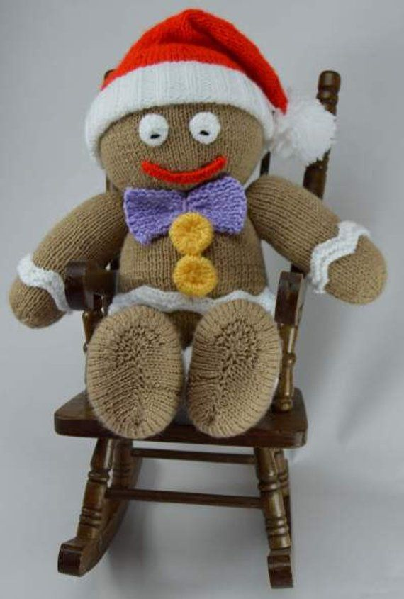 65afe9f90f4165 KNITTING PATTERN - Gingerbread Man Soft Toy Knitting Pattern Download From  Knitting by Post