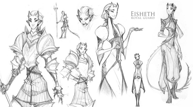 Eisheth - The Royal Guard - by dapper-owl on deviantART  I like the character design as well as the costumes in this