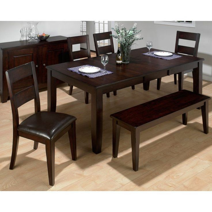 Jofran Rustic Prairie 6 Piece Dining Set With Bench   JSI948 Design