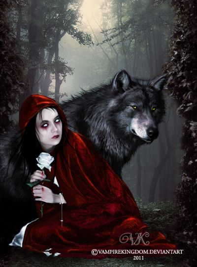 Little red riding hood on black cocks 1 3