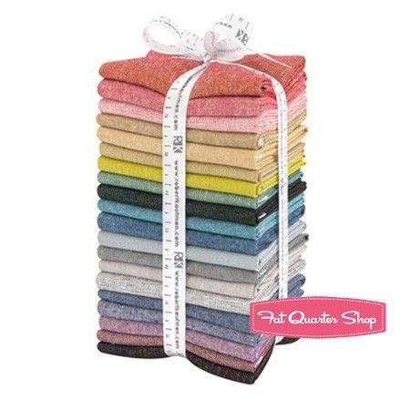 Bright Essex Yarn Dyed Fat Quarter Bundle Robert Kaufman Fabrics