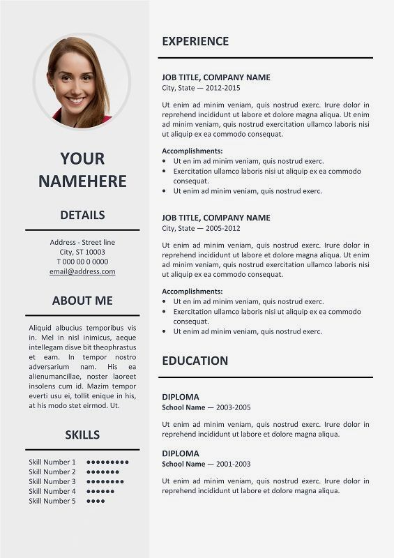 Ikebukuro Free Elegant Resume Template Gray For MS Word