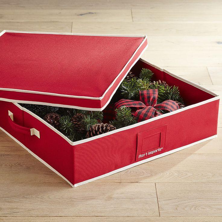 Hard-Sided Wreath Storage Box
