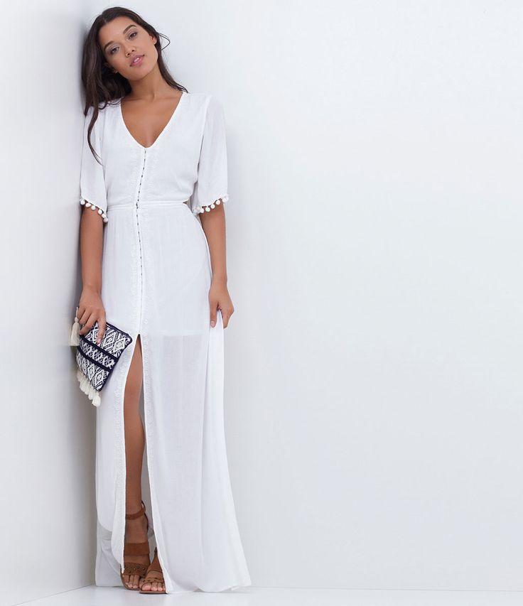 Vestido feminino Modelo longo Sem mangas
