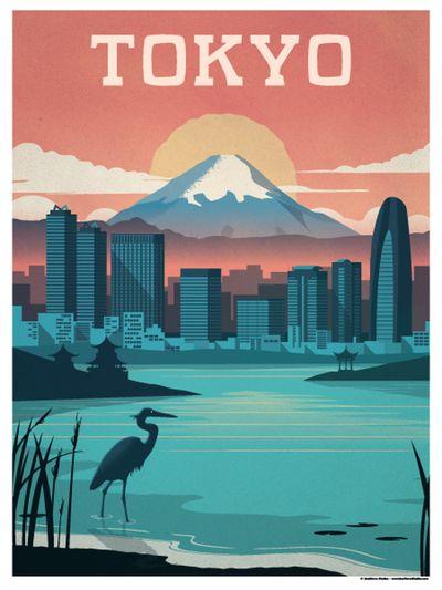 Image of Vintage Tokyo Poster