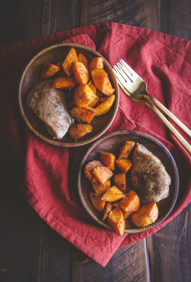 5 Ingredient Baked Chicken & Sweet Potatoes for 2