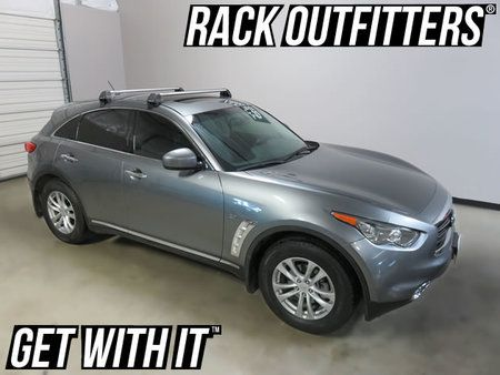 Infiniti QX70 Rhino-Rack 2500 RS Vortex SILVER Roof Rack '14+