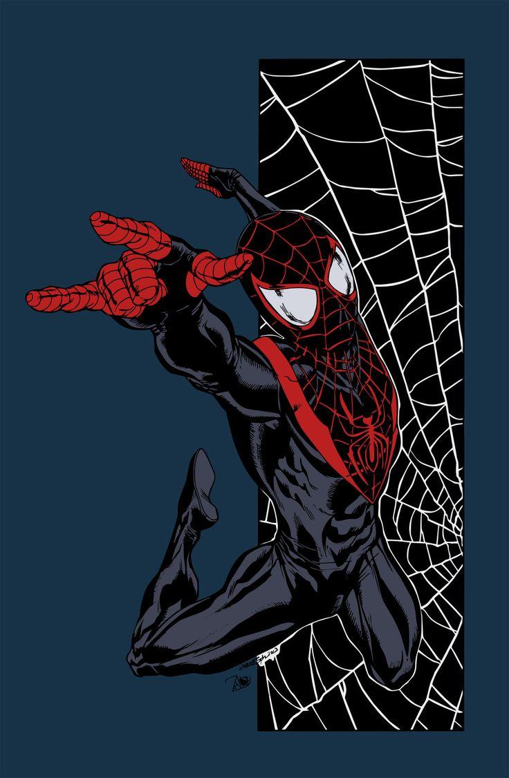 Ultimate Spider-Man by Sheldon Goh (Colored) by edCOM02.deviantart.com on @DeviantArt