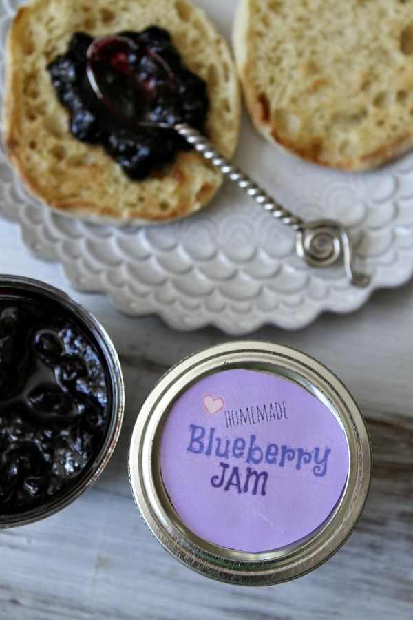 "Homemade Blueberry Jam - that you don't need to can! ""Refrigerator jam isn't meant to can… it's meant to eat within a couple of weeks."" Great for when a deal on blueberries comes up at the local Farmer's Market!"