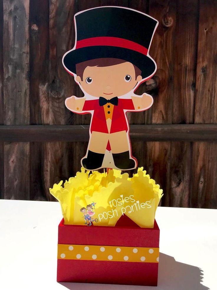 Carnival Circus Birthday Centerpieces Circus Carnival Baby