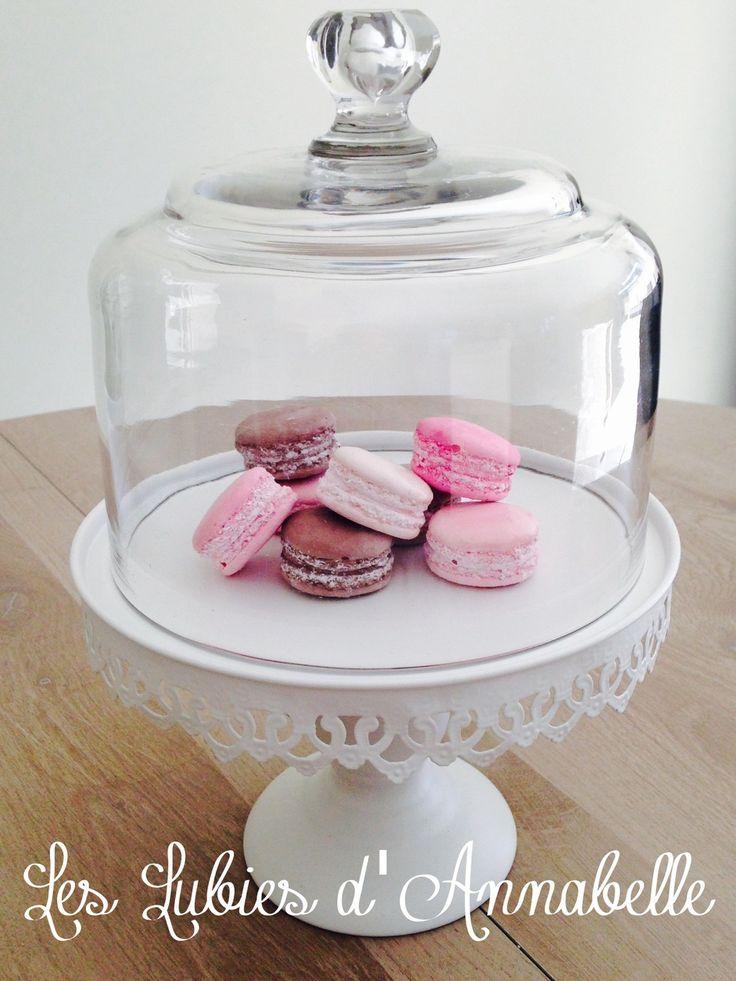 Lot 8 macarons en plâtre teintés dans la masse Style Shabby : Accessoires de…
