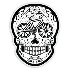 mexican art skull bike - Cerca con Google