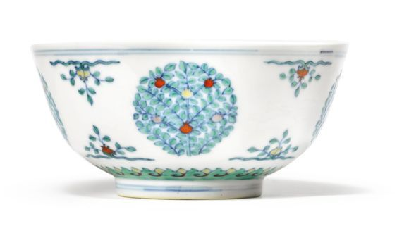 Two Doucai Medallion Bowls Qing Dynasty 18th Century Chinese Ceramics Qing Dynasty 18th Century
