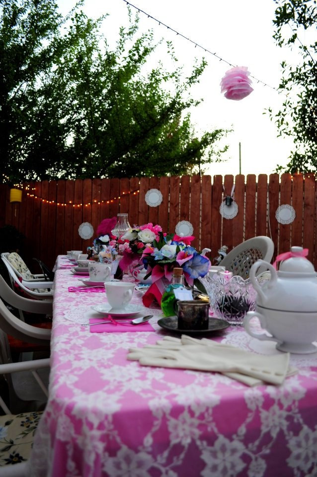 bridal shower teparty decorations%0A Late evening   afternoon tea party decor  Pretty Pinks and blues with a  slightly Mad