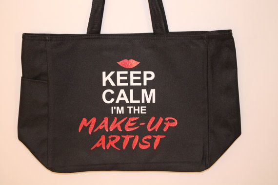 Make Up Artist Make-Up MUA Gift  Keep Calm I am the Make Up Artist Bag on Etsy, $12.00