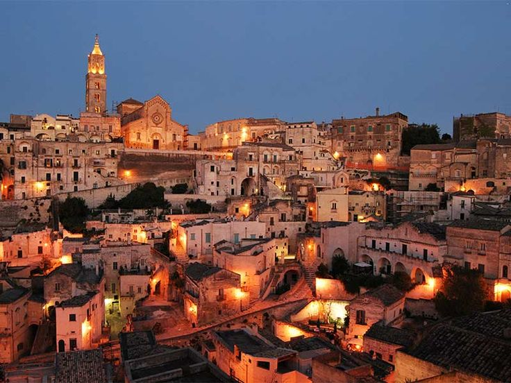Matera in Italy - Sunset