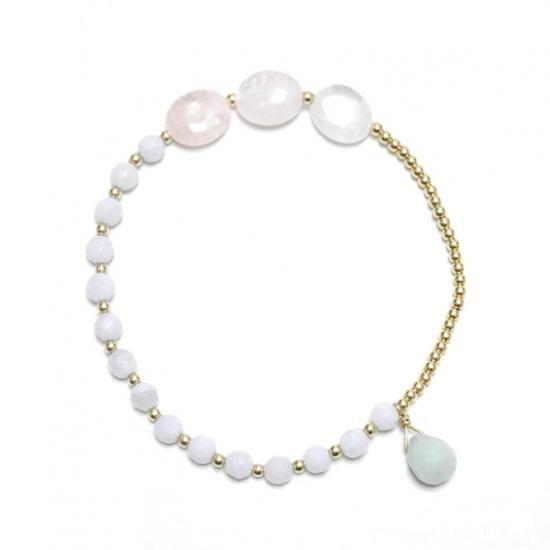 urara ブレスレット -ブルーレース × モルガナイト- - STORE ichijiku -ichijiku & marble by ichijiku 公式オンラインショップ-