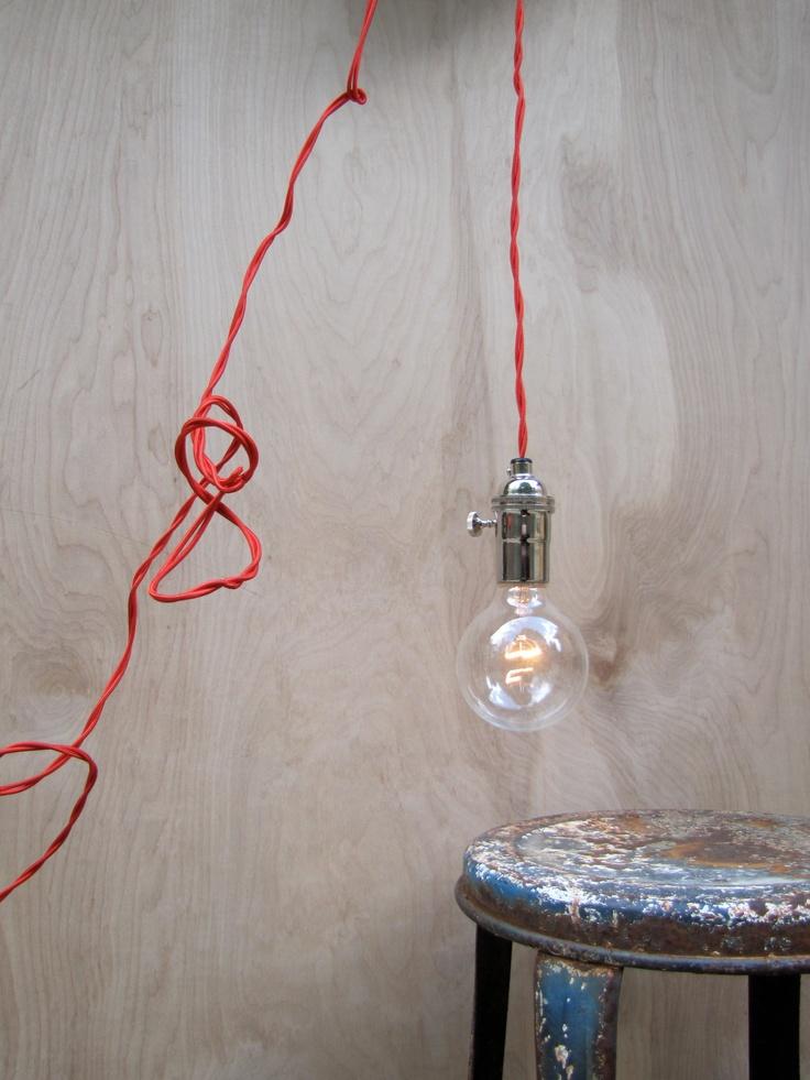 Red Pendant Light, $75