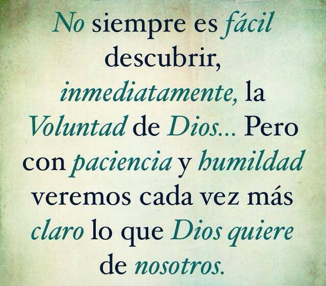 Descubrir la voluntad de Dios!!!