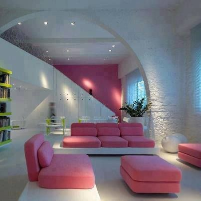 احدث اشكال انتريهات راقية ديكور الانتريه لسنه 2014 هنا: Design Milk, Living Rooms, Color, Florence Italy, Dream House, Interiors Design, Pink, Interiordesign, Modern Homes
