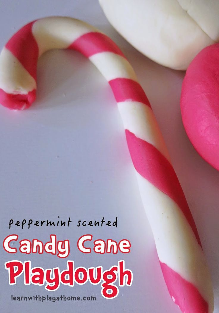 Peppermint Scented Candy Cane Playdough