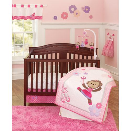 Carters Ballerina Monkey Baby Bedding for Girls - bedtimebaby.com